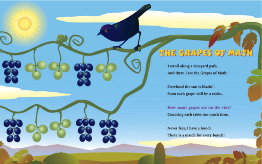 grapes of math - bunches of grapes - book page