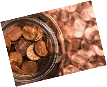 jar of pennies used in interactive activity
