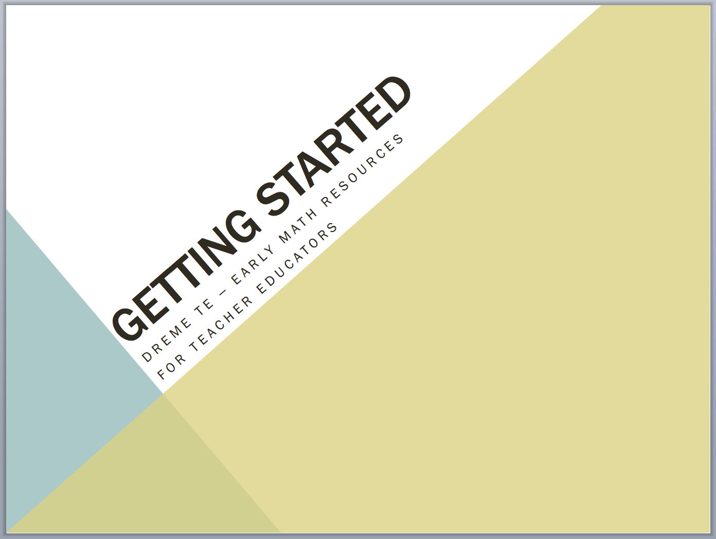 getting started slide screenshot