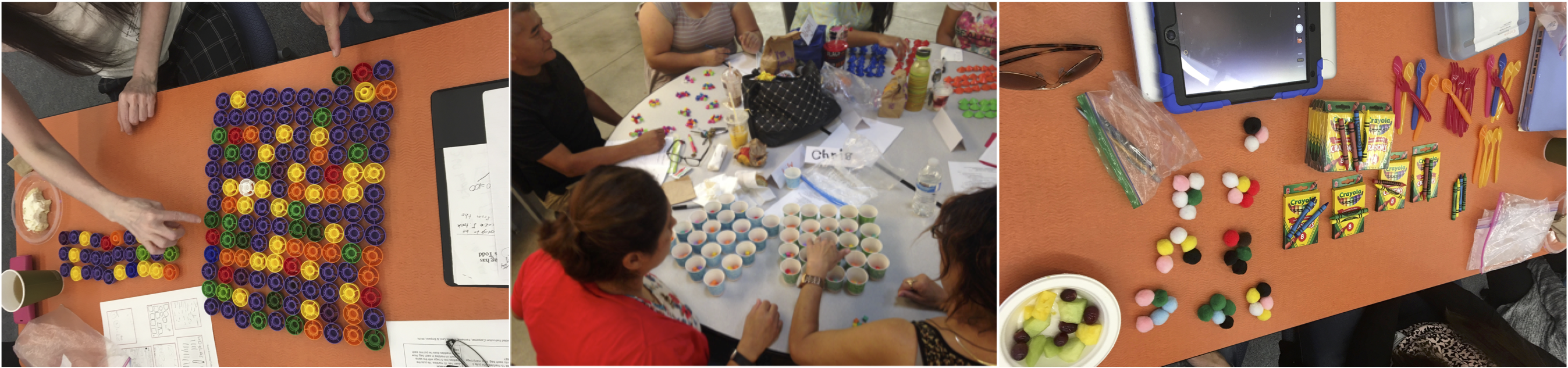 three images of counting collections together in professional development